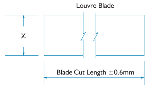 Altair Louvre blade length tolerance